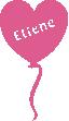 Strijkapplicatie Ballon Hart Naam