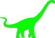 Strijkapplicatie Dino Brachiosaurus