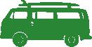 Strijkapplicatie Bus Surfboard