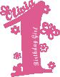 Strijkapplicatie B-Day Girls Naam