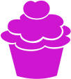 Strijkapplicatie Cupcake
