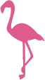 Strijkapplicatie Flamingo