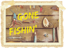 Strijkapplicatie Gone Fishin