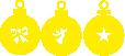 Strijkapplicatie Kerstballen