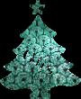 Strijkapplicatie Kerstboom Naam