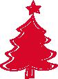 Strijkapplicatie Kerstboom Swing