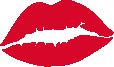 Strijkapplicatie Lips