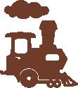 Strijkapplicatie Locomotief