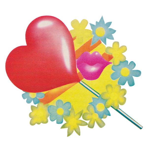 Strijkapplicatie Lollypop Hart