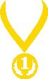 Strijkapplicatie Medaille 1