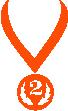 Strijkapplicatie Medaille 2