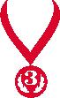 Strijkapplicatie Medaille 3