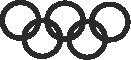 Strijkapplicatie Olympische Ringen