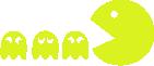 Strijkapplicatie Pacman en Spookjes