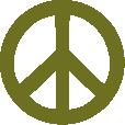 Strijkapplicatie Peace teken