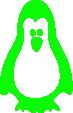 Strijkapplicatie Pinguïn
