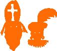 Strijkapplicatie Sinterklaas en Zwarte Piet
