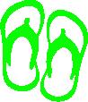 Strijkapplicatie Slippers B