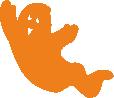 Strijkapplicatie Spookje Cico