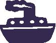 Strijkapplicatie Stoomboot