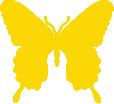Strijkapplicatie Vlinder V