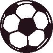 Strijkapplicatie Voetbal