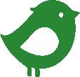 Strijkapplicatie Vogeltje Kuif