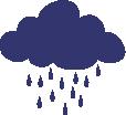 Strijkapplicatie Wolkje Regen