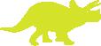 Strijkapplicatie Dino Triceratops