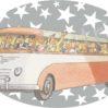 Strijkapplicatie Bus Fifties