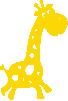 Strijkapplicatie Girafje