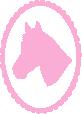 Strijkapplicatie Paard Frame