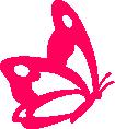 Strijkapplicatie Vlinder Zijkant