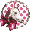 Strijkapplicatie Witje Paard