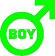 Strijkapplicatie Symbool Boy