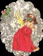 Strijkapplicatie Kerst Engel