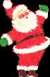 Strijkapplicatie Kerstman F