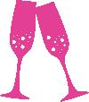 Strijkapplicatie champagneglazen