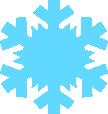 Strijkapplicatie Sneeuwvlok 1