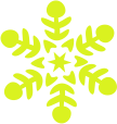 Strijkapplicatie Sneeuwvlok 2