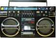 Strijkapplicatie Ghetto Blaster