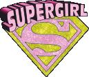 Strijkapplicatie Super Girl