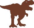 Strijkapplicatie Dino T Rex