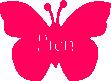 Strijkapplicatie Vlinder Naam