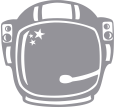 Strijkapplicatie Astronauthelm