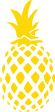 Strijkapplicatie Ananas