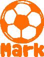Strijkapplicatie Voetbal Naam