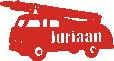 Brandweerauto sticker