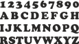 Strijkapplicatie Letter VET