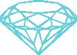 Strijkapplicatie Diamant Briljant Open